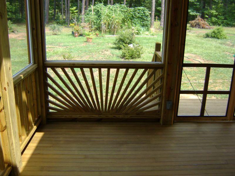 Sunburst Railing Deck Railing Design Railing Design
