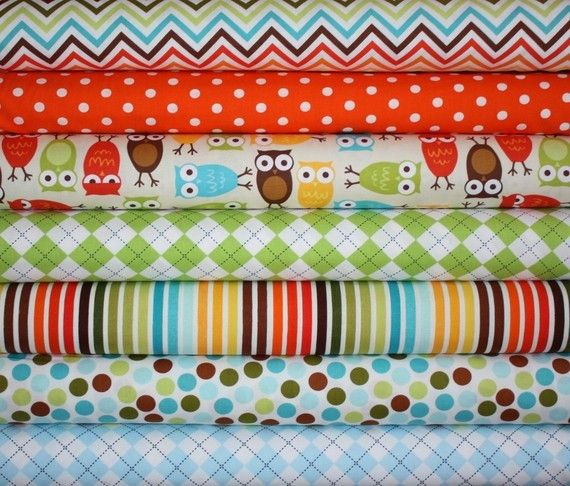 Love these fabrics for a little boy room.
