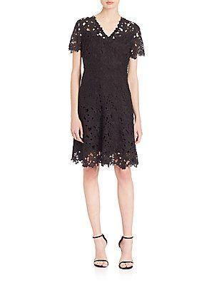 64ce3833c2de Elie Tahari Samira Fit-and-Flare Dress - Black - Size   Products ...