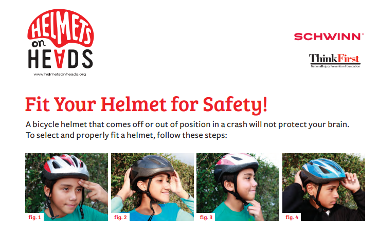 Fit Your Helmet For Safety Poster Bike Safety Safety Posters