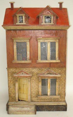 Moritz Gottschalk red roof dolls house, sold at Bonhams in 2011 for £750. .....Rick Maccione-Dollhouse Builder www.dollhousemansions.com