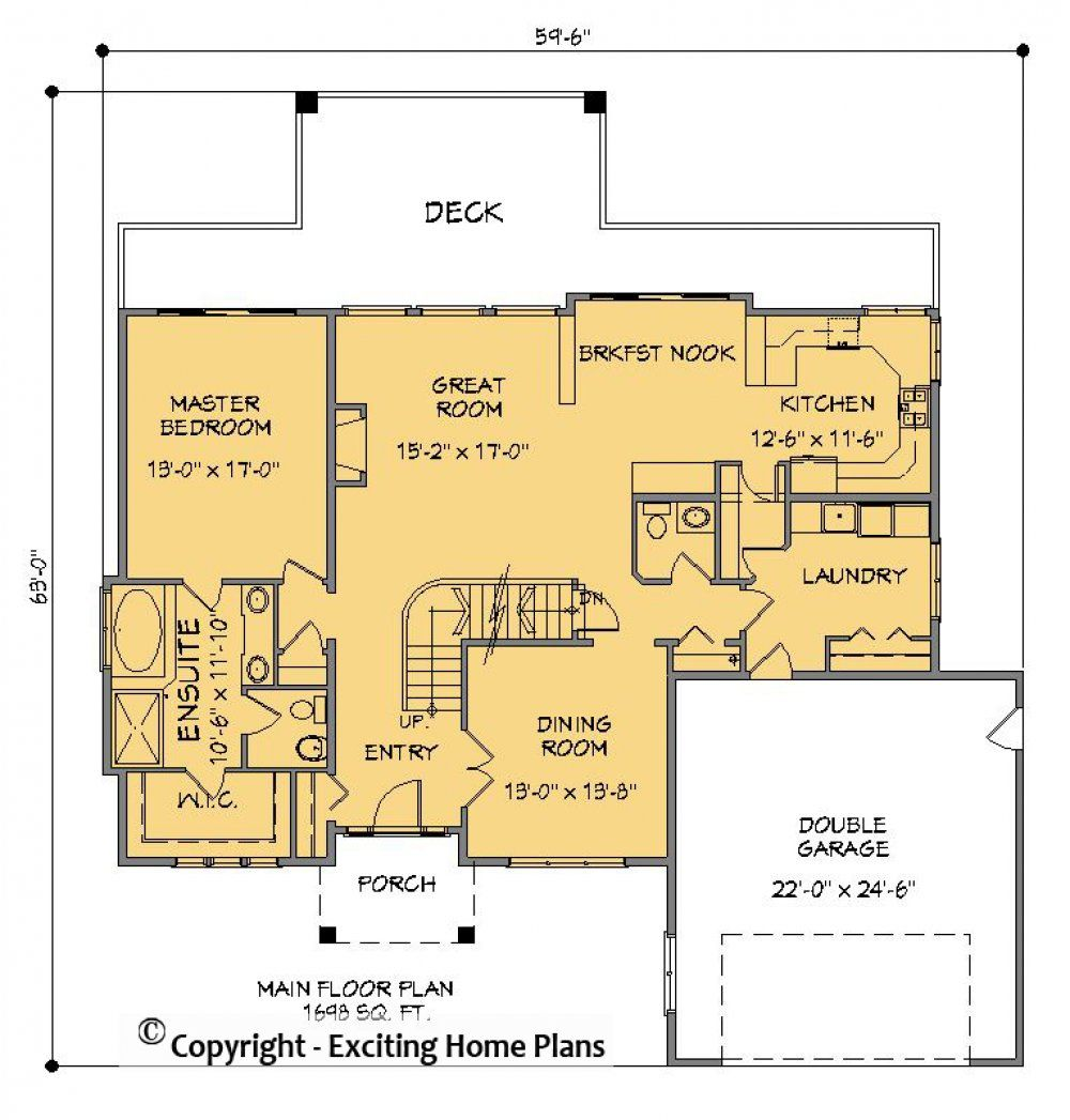 House Plan Information for Omak 2 Storey Home Design in