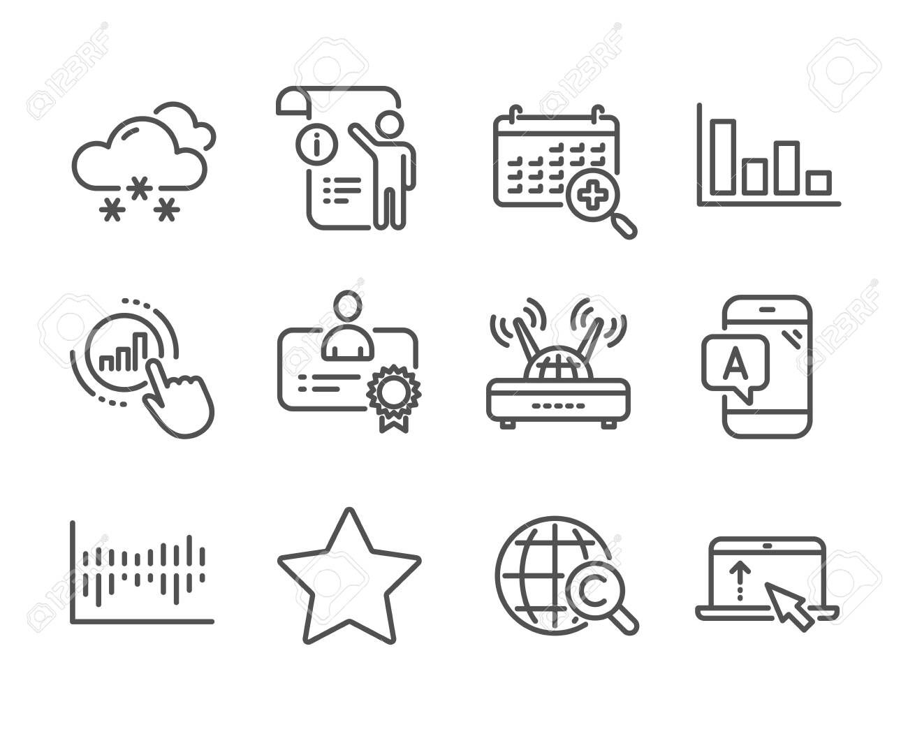 Set of Science icons, such as Manual doc, Certificate