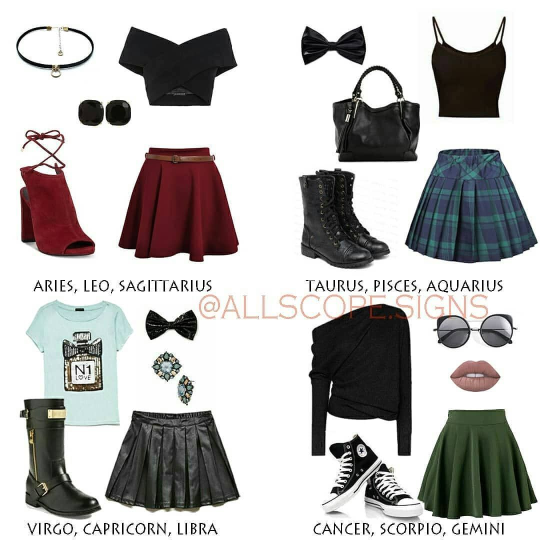 Outfits Zodiacales ; Outfits Zodiac