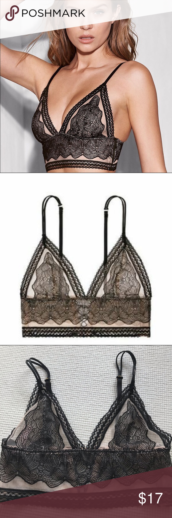 645dd0315e9c4 Extra small bralette by Victoria s Secret Extra small size mesh and  longline bralette by Victoria s Secret. Wireless cups