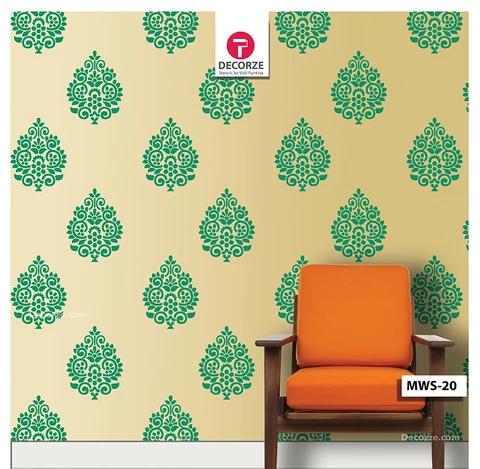 Motif Stencil Design For Living Room Wall Painting Ideas Reusable Motif Stencil Mws 20 Room Wall Painting Asian Paints Wall Designs Bedroom Wall Designs