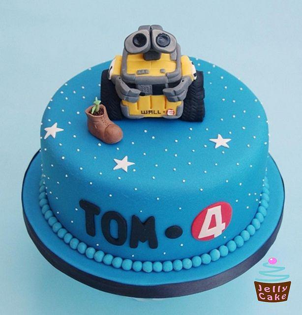 Toms 4th Birthday Cake Wall E By Jellycakecouk Via Flickr