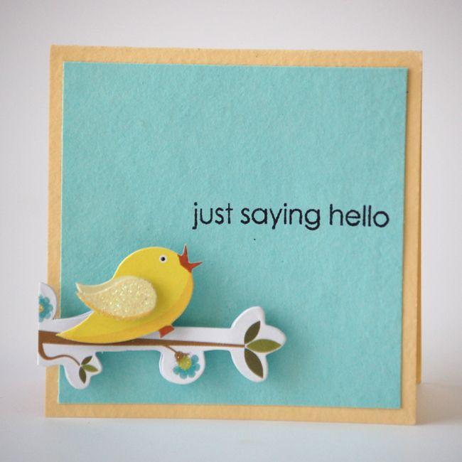 NL Hello Bird Sticker Mini Card