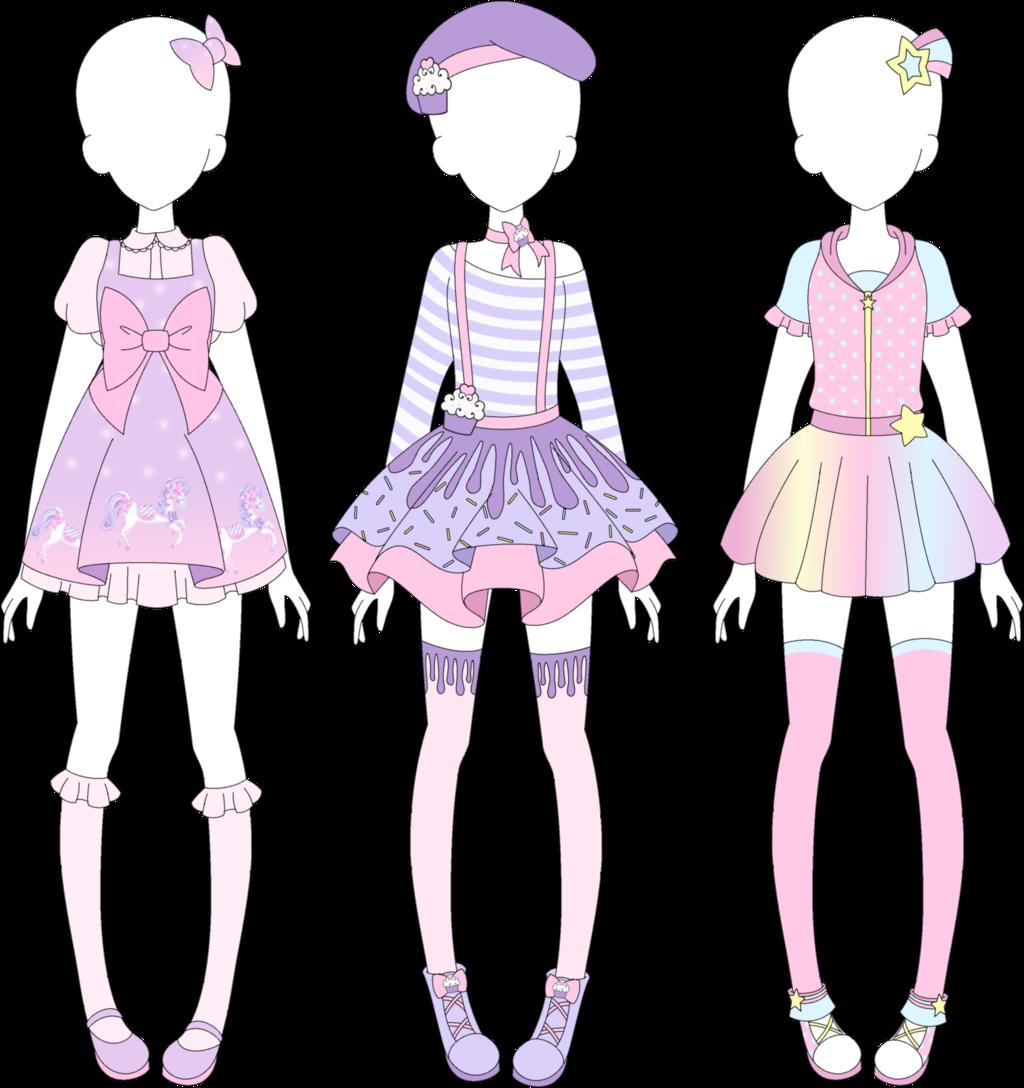 Character Design Clothing Tips : Mra fairy kei designs by vanillachama viantart on