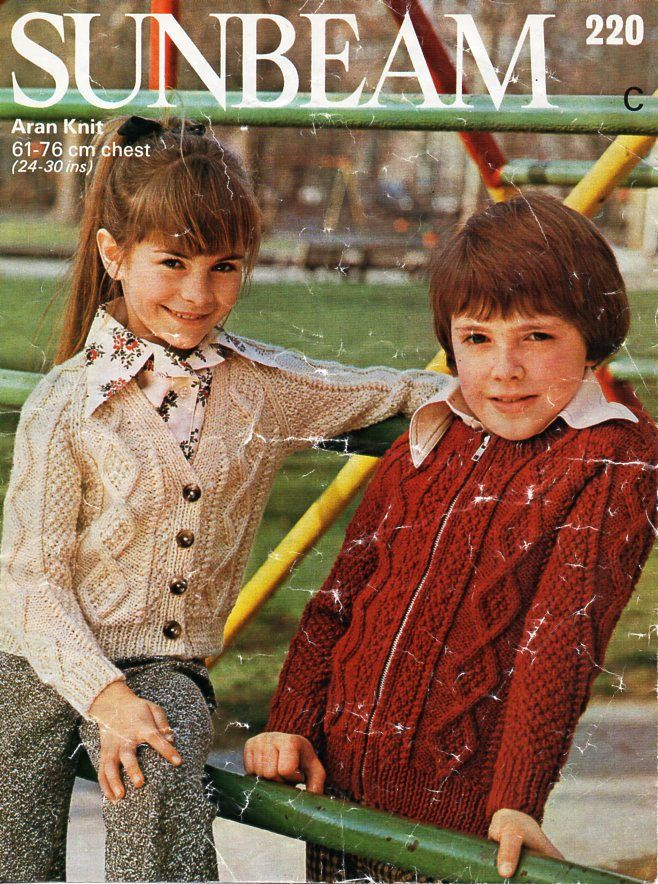 Double Knitting Aran Pattern Jumper Cardigan Wool Baby Items 61-76 cm 24-30 in.