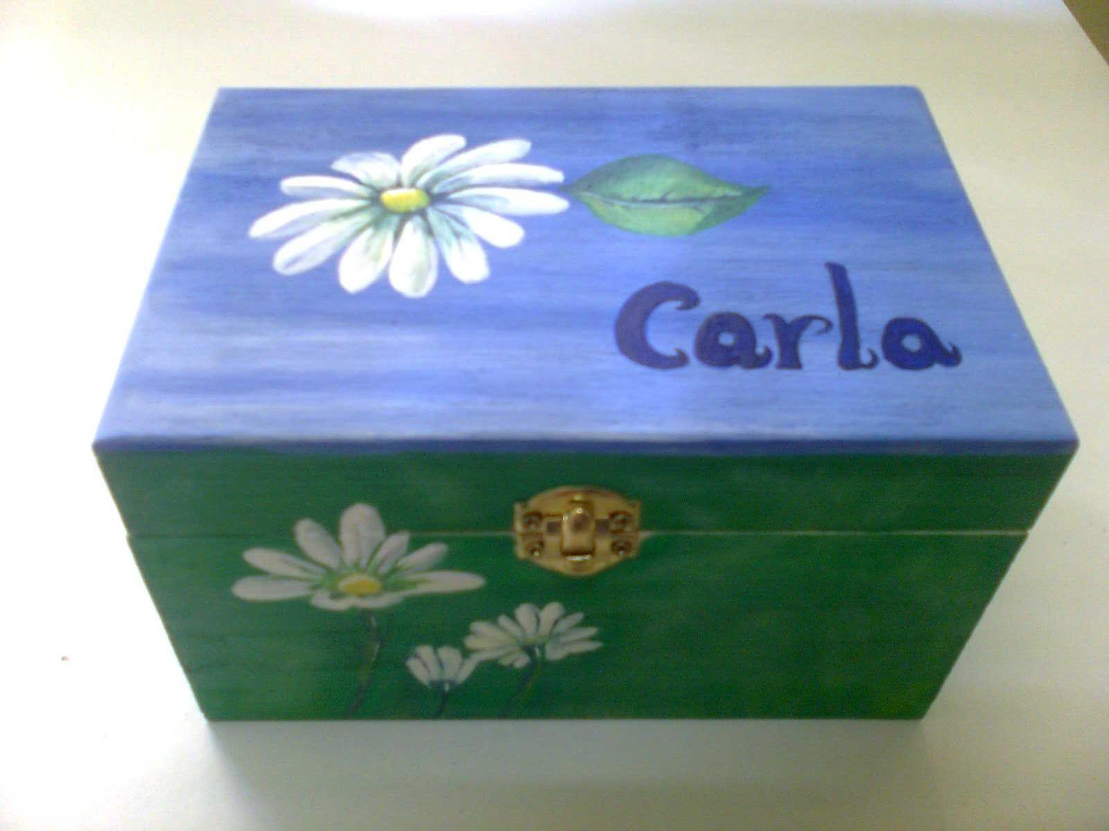 cajas de madera decoradas artesanalmente pintadas con acrlicos leos y barnizadas - Cajas De Madera Decoradas