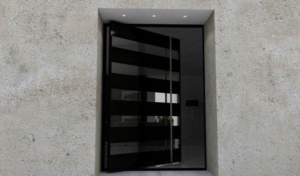 porte d 39 entr e pivotante et l gante en 31 id es portes verre et entr e. Black Bedroom Furniture Sets. Home Design Ideas