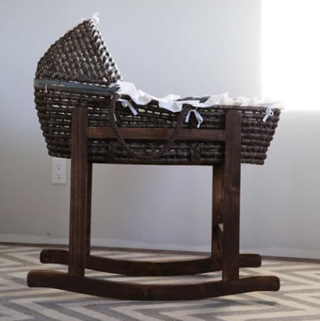 Rocking Moses Basket Stand - Knock-Off Wood