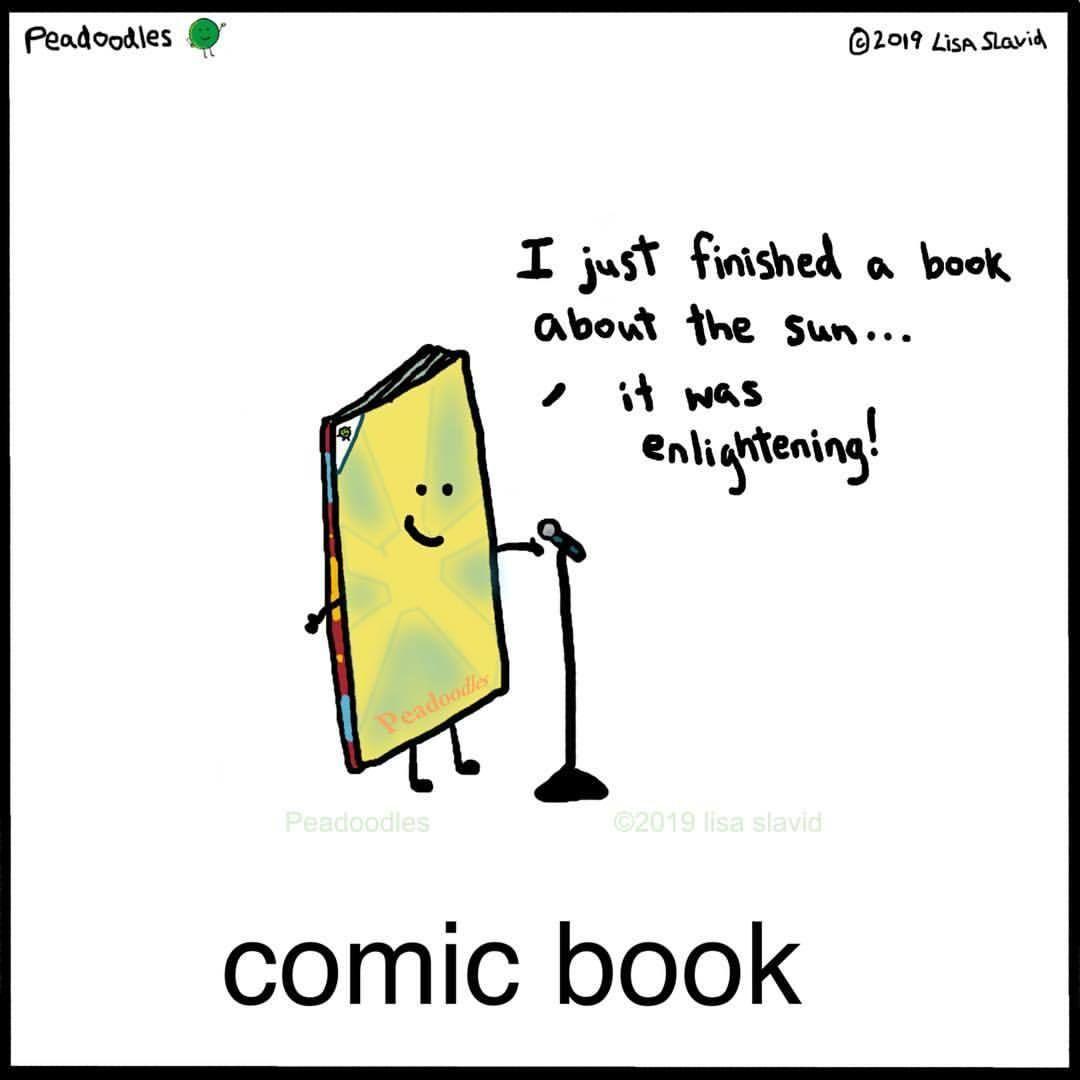 Peadoodles Funny Quotes Book Puns Laugh Cartoon