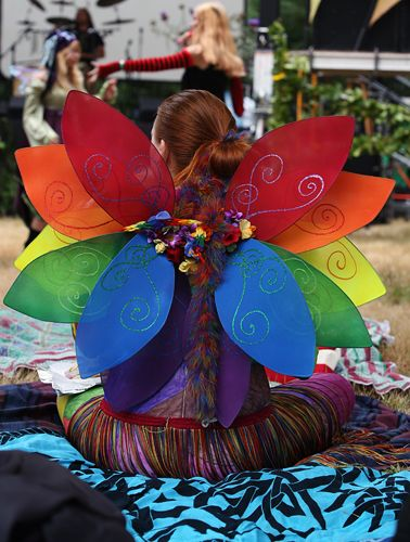rainbow wings - A bit over the top, but I could try to do this in one colour per girl