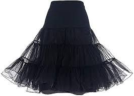 Photo of DRESSTELLS Women's Vintage Rockabilly Petticoat Skirt Tutu 1…