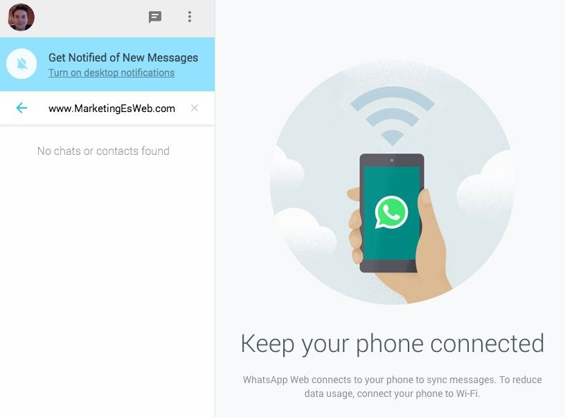 WhatsApp Web. Accede a Whatsapp a través de Chrome