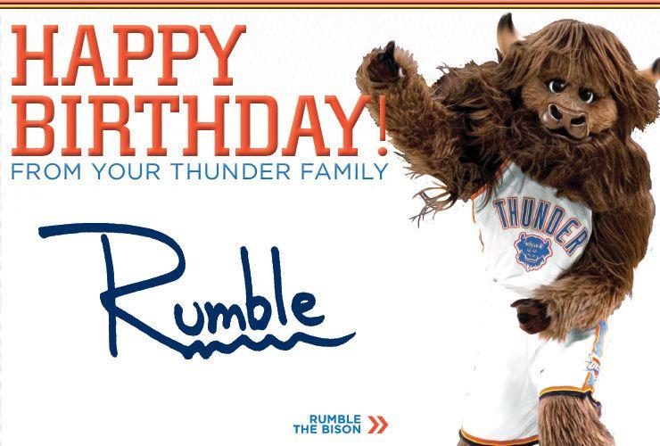 Nice Happy Birthday Email From The Oklahoma City Thunder Mascot #sportsbiz