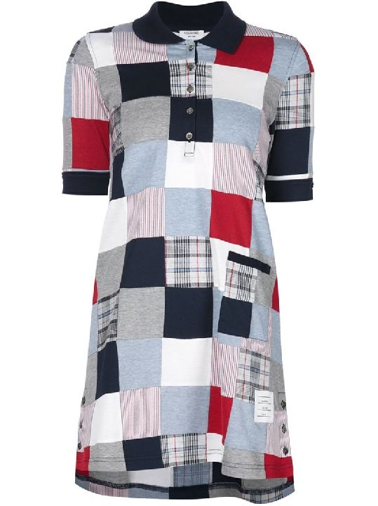 This Thom Browne patchwork shirt dress will pair nicely with oxfords $890, available here: rstyle.me/~8hyxy