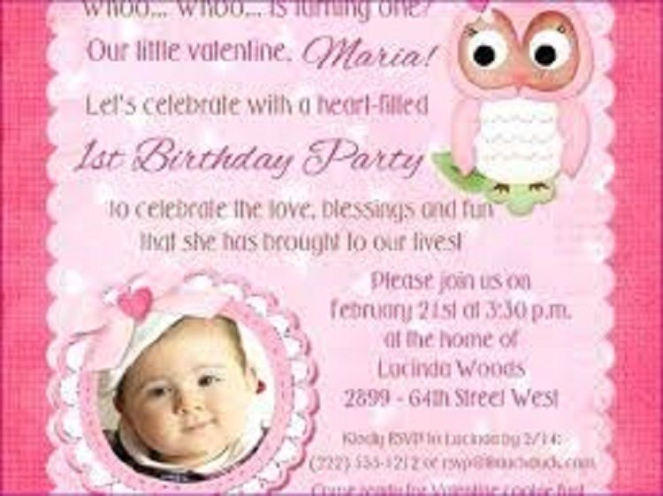 Unique Birthday Invitation Quotes For Baby Girl