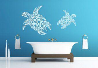 Wall Art Bathroom Wall Stickers Art Wall Kids Turtle Wall Decals