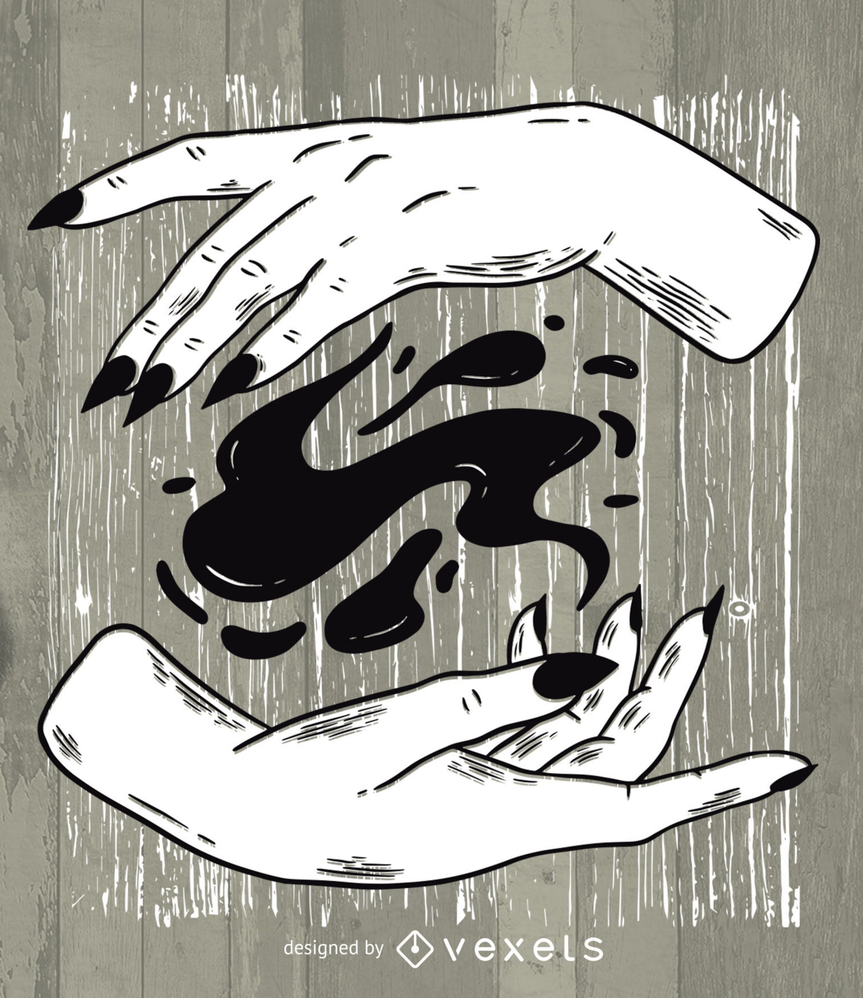 Check out these witchy hands casting a dark magic spell