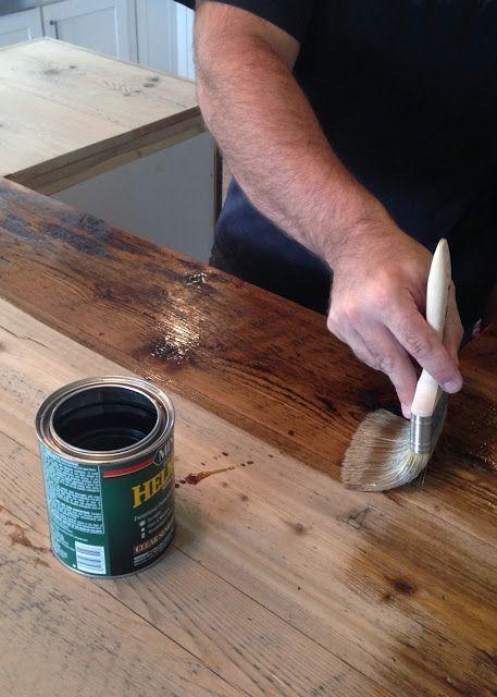 DIY Reclaimed Wood Countertop | Cosas lindas, Cocinas y Deco