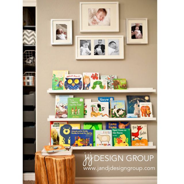 Baby boy nursery Reading Nook #book #shelves #jandjdesigngroup