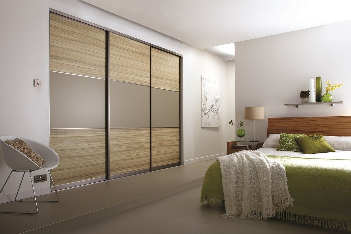 bedroom fitted wardrobe design ideas with sliding wardrobes door 3