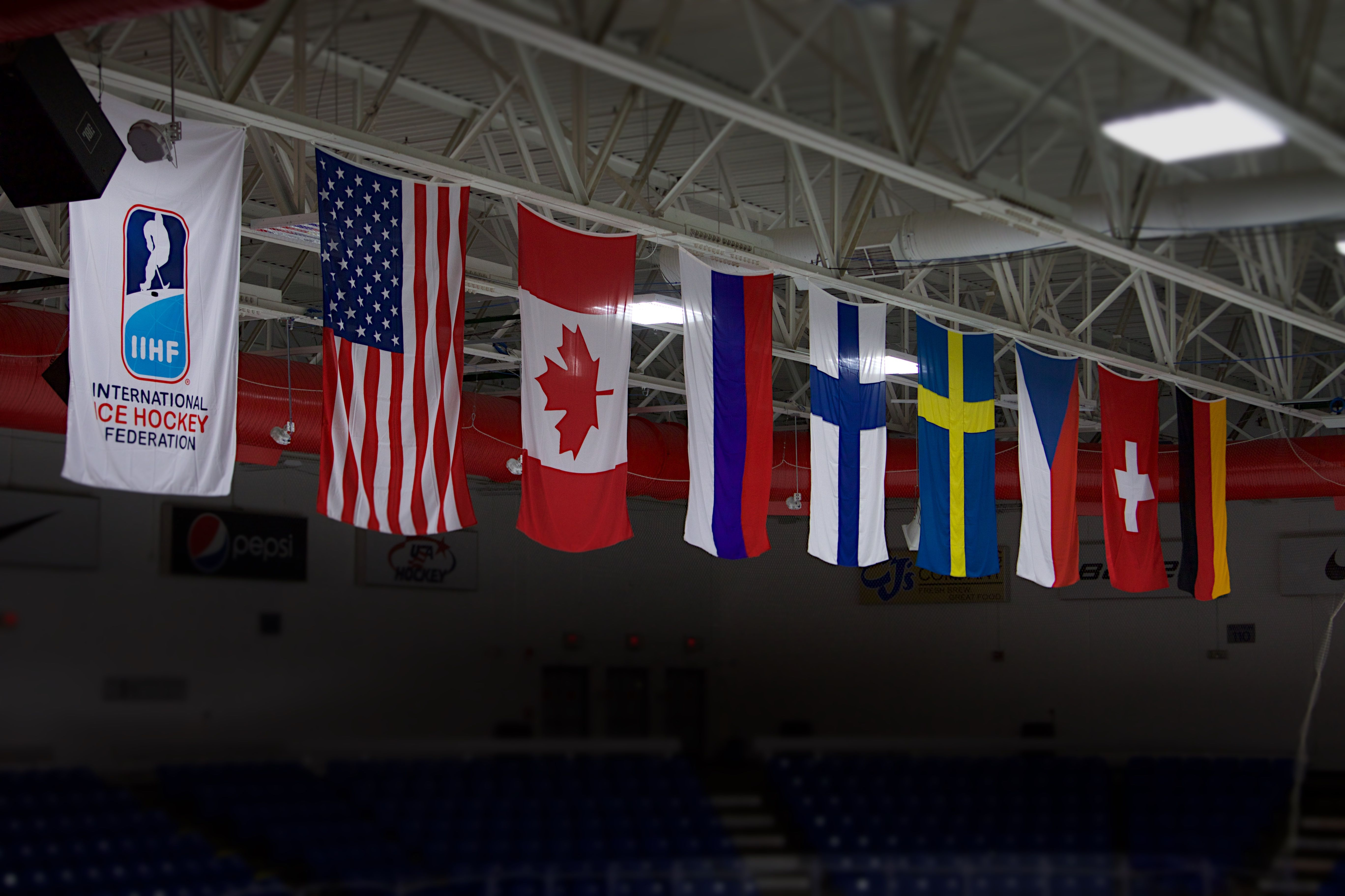 The Eight Teams That Competed In The 2017 Iihf Women S World Championship At Usa Hockey Arena In Plymouth Mich Hockey Arena Usa Hockey Women S Hockey