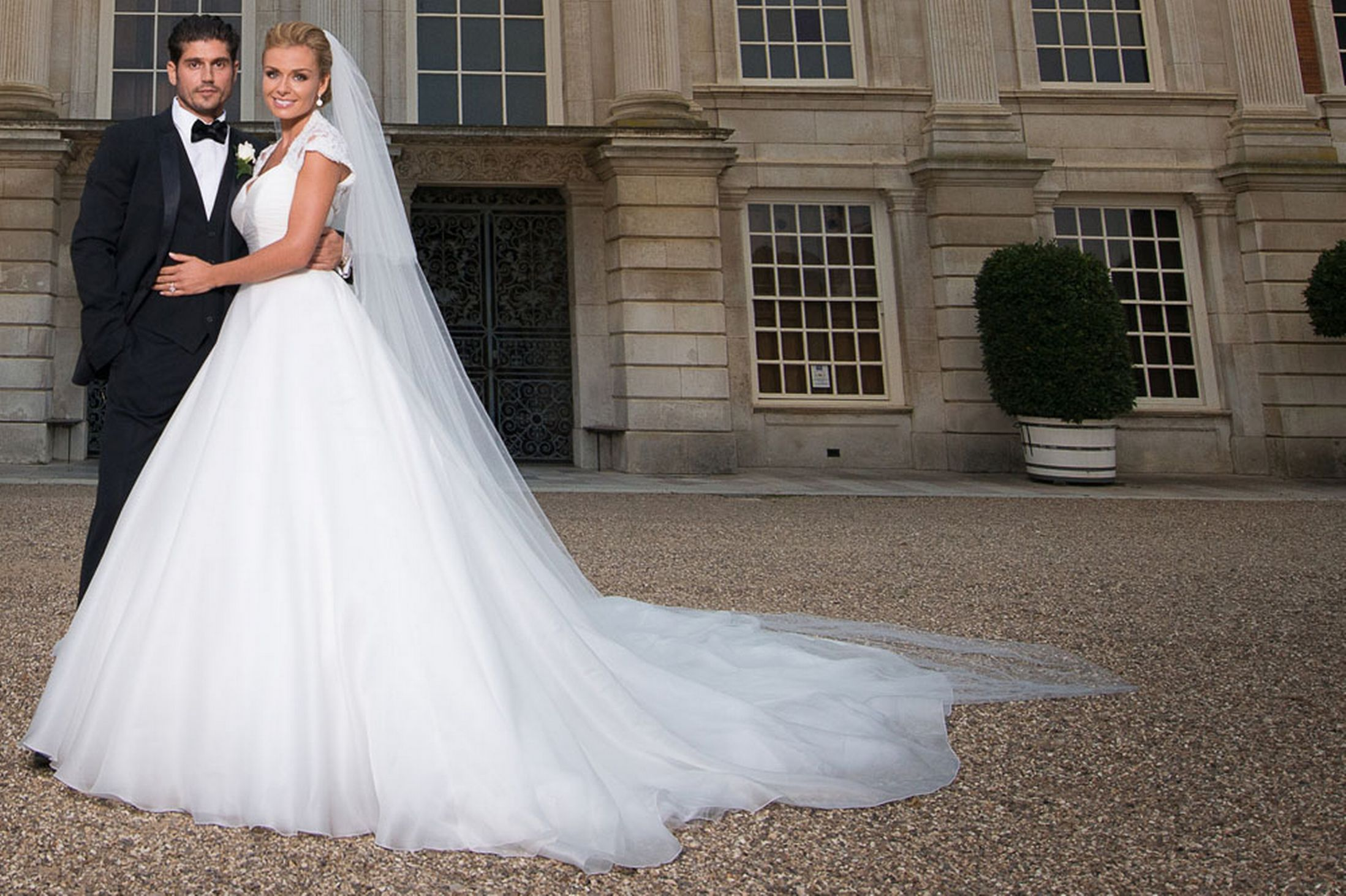 Katherine Jenkins All Smiles On Wedding Day As Welsh Flag Flies