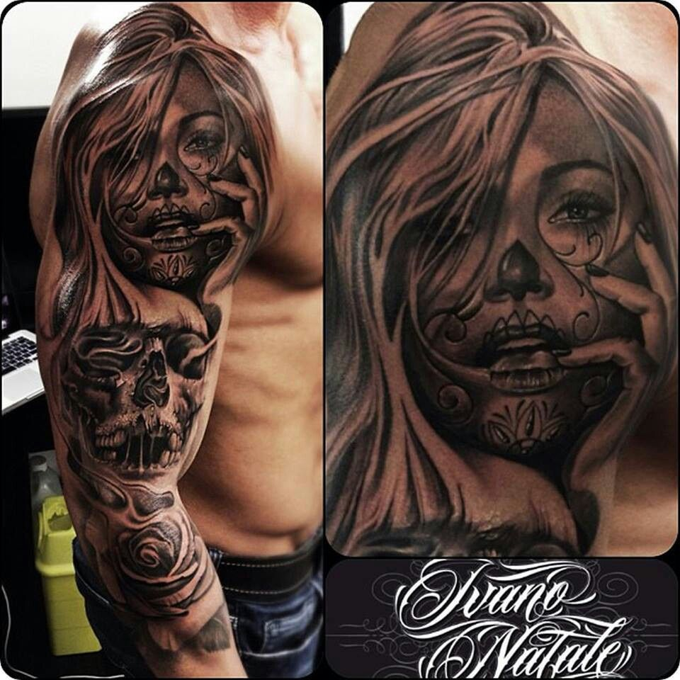 Skulls, Mexican painted mask | mexican style tattoo ...