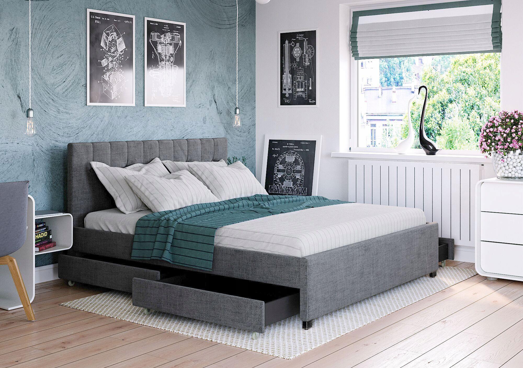 łóżko Tapicerowane Modenamateracszuflady 180x200 W 2019