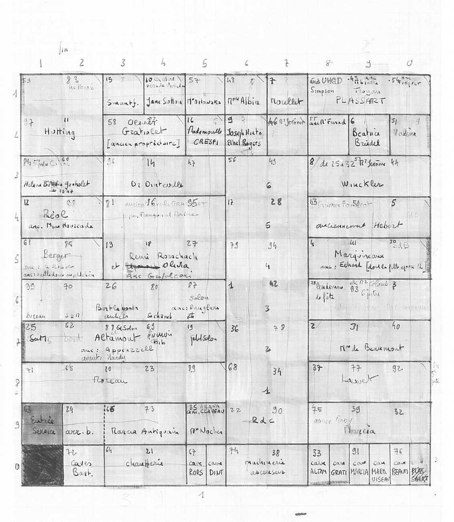 map of georges perec s life a user s manual 1978 books rh pinterest com Life a Users Manual James Sherwood perec life a user's manual