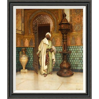 Global Gallery 'An Arab in a Palace Interior' by Rudolf Ernst Framed Painting Print Size: