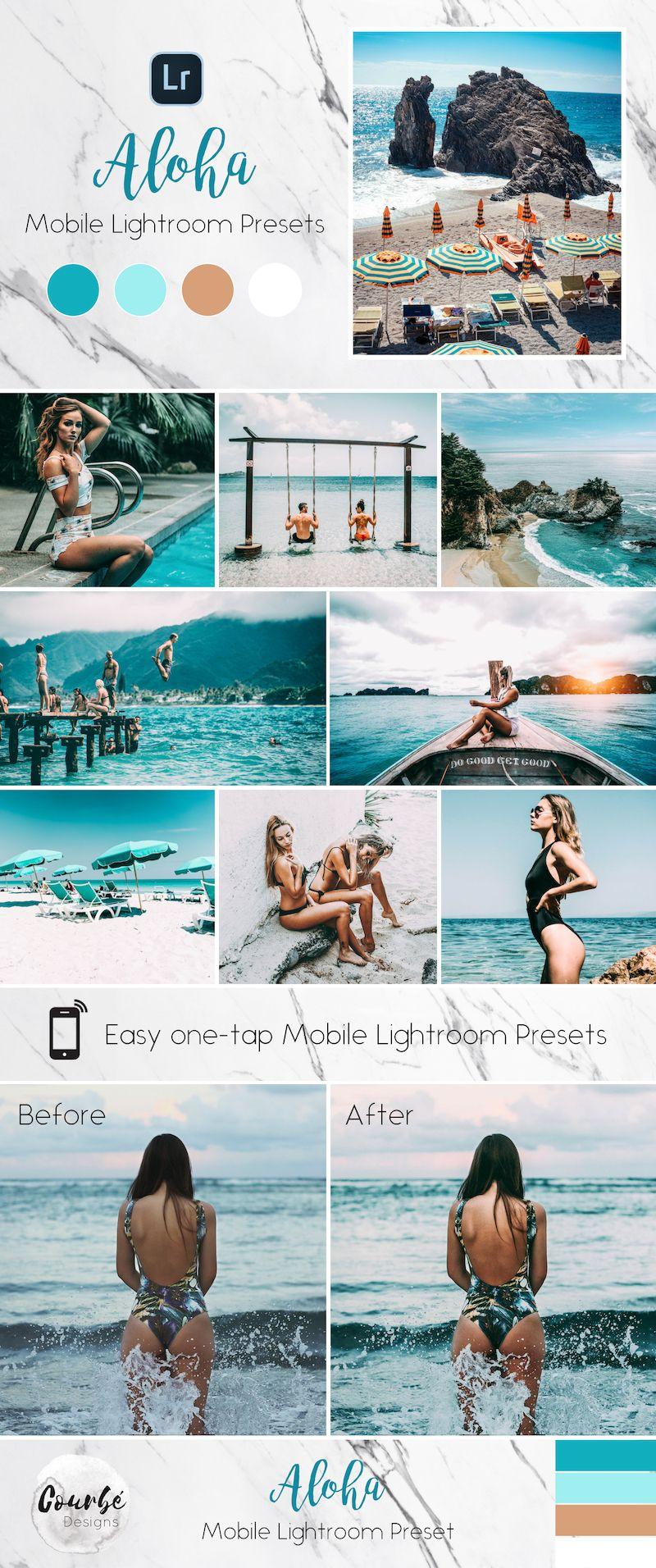 3 Mobile Lightroom Presets Aloha Instagram Blogger Travel Lifestyle Presets Lightroom Lightroom Presets Instagram Aesthetic