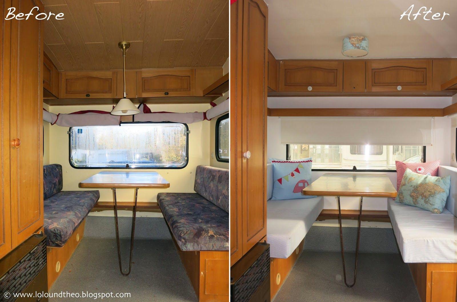 unser wohnwagen ist fertig das gro e vorher nachher finale wohnwagen pinterest. Black Bedroom Furniture Sets. Home Design Ideas