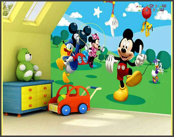 Mickey mouse design wall decals Mickey Mouse Bedroom | Mickey ...
