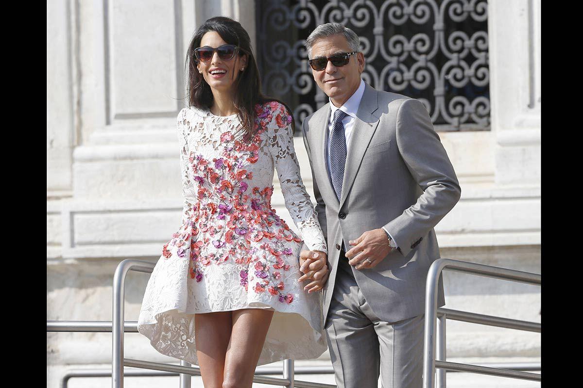 Dias De Fiesta Y Amor En Venecia George Clooney Kleider Kleid Hochzeit