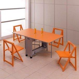 Mesa de cocina consola y 4 sillas plegables para mi casa pinterest sillas plegables mesas - Sillas plegables de cocina ...