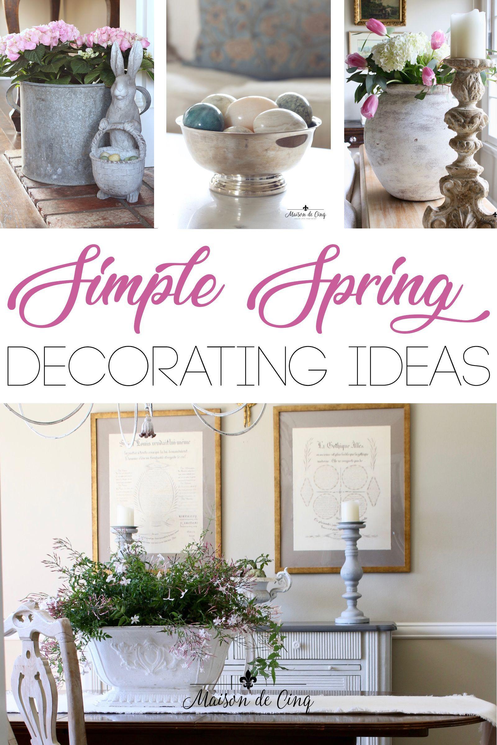 Home Interior Bohemian Simple Spring Decorating Ideas Spring D