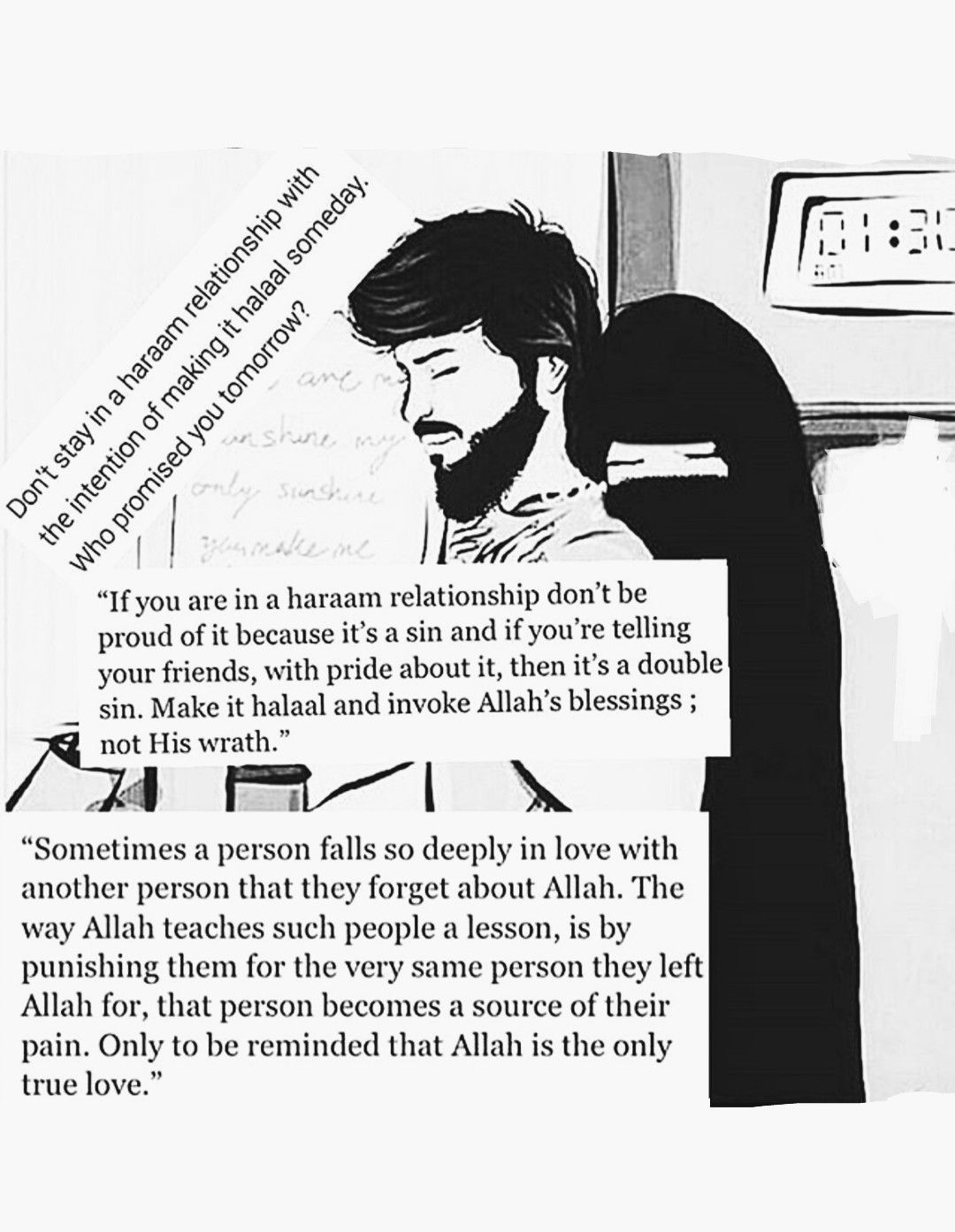 Don't stay in Haram relationship with intention of making it Halal
