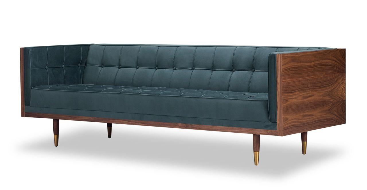 Sensational Woodrow Box 87 Fabric Sofa Walnut Neptune Velvet In 2019 Ibusinesslaw Wood Chair Design Ideas Ibusinesslaworg