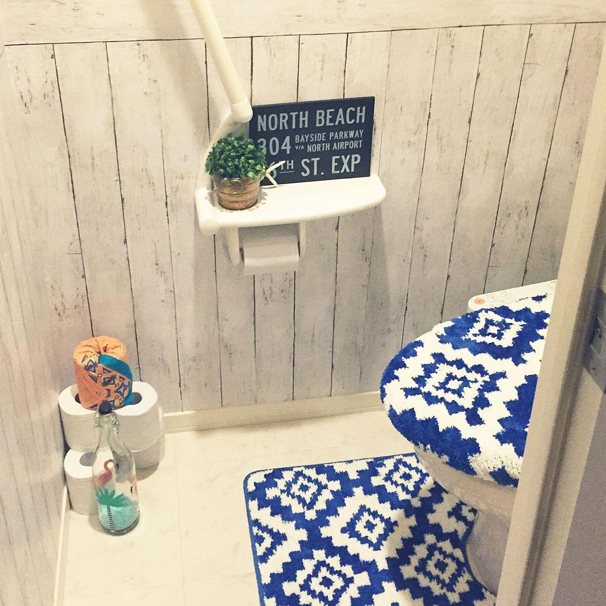 100均 しまむらのトイレマットのインテリア実例 Roomclip ルーム