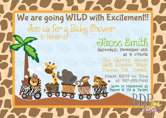 Customizable Lambs & Ivy Safari Express Baby Shower by BDPDesigns ...