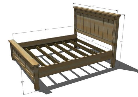 Ana White | Build a Farmhouse Bed, Calif King | Free and Easy DIY ...