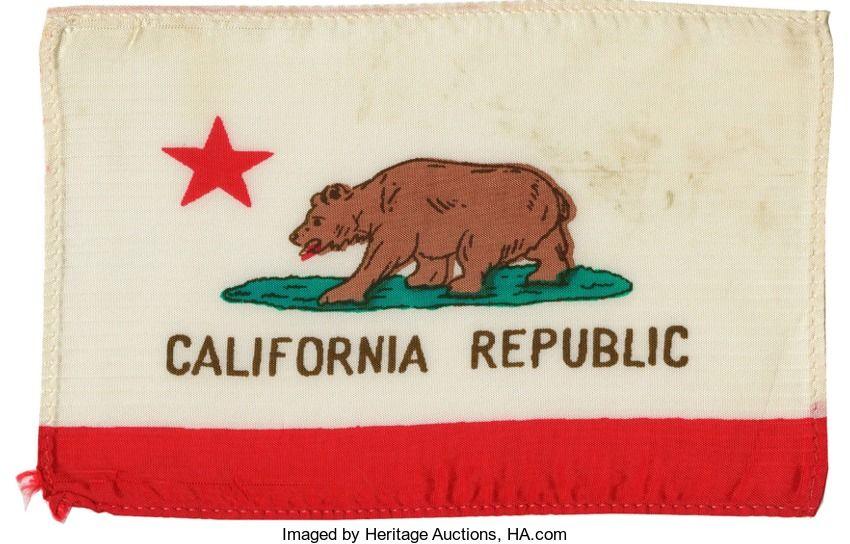 95f02381647d6 Vintage Mini Bear Flag   Bear Flag Museum   California Bear Flag ...