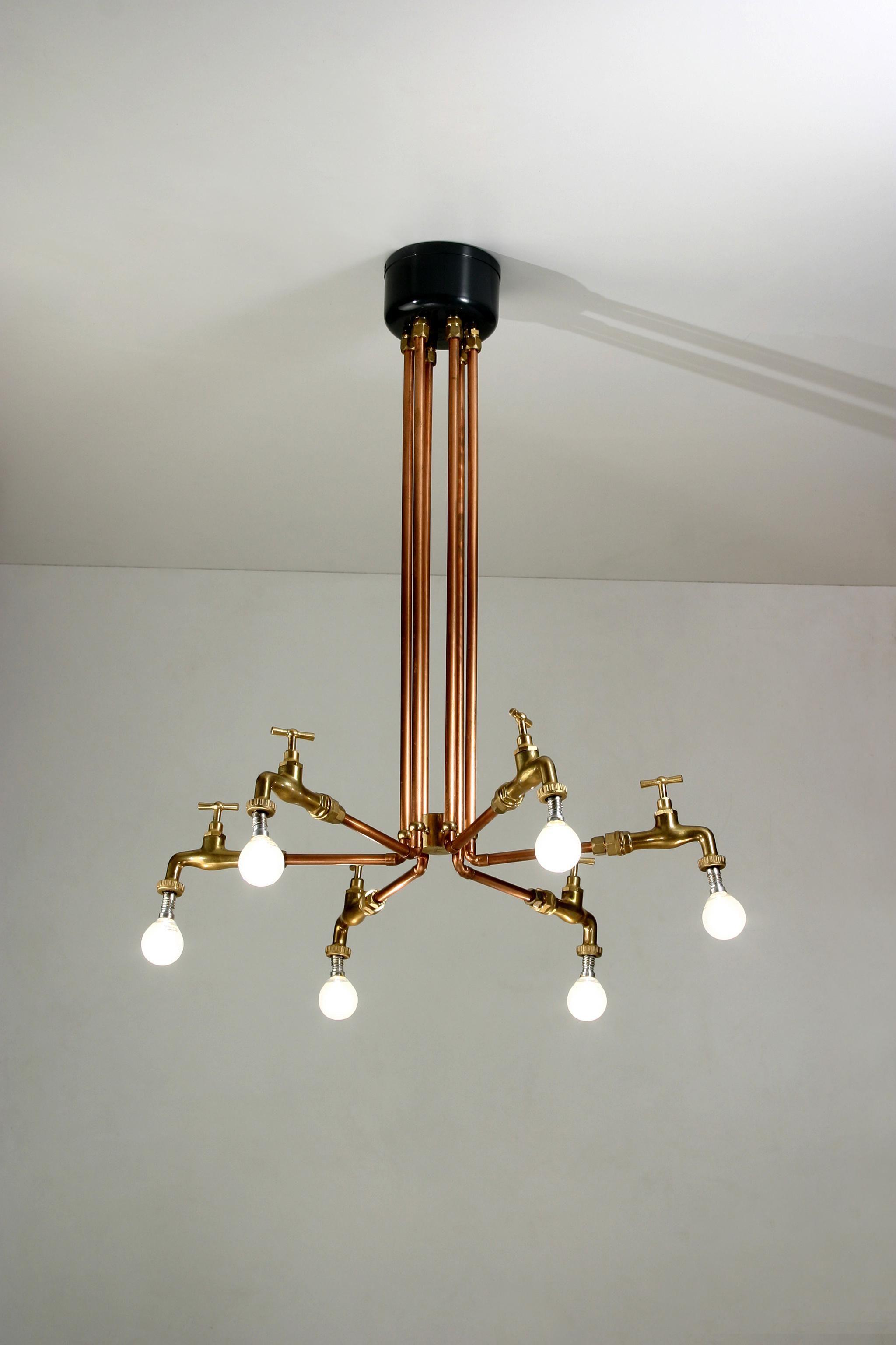 Sofia lam lampadario di yonel hidalgo materiali tubo di for Rubinetti per tubi di rame