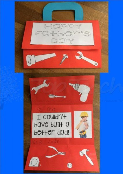 Create A Tool Box But Folding A Blank Piece Of Paper And Adding A Handle Included In The Document Father S Day Activities Father S Day Diy Fathers Day Crafts