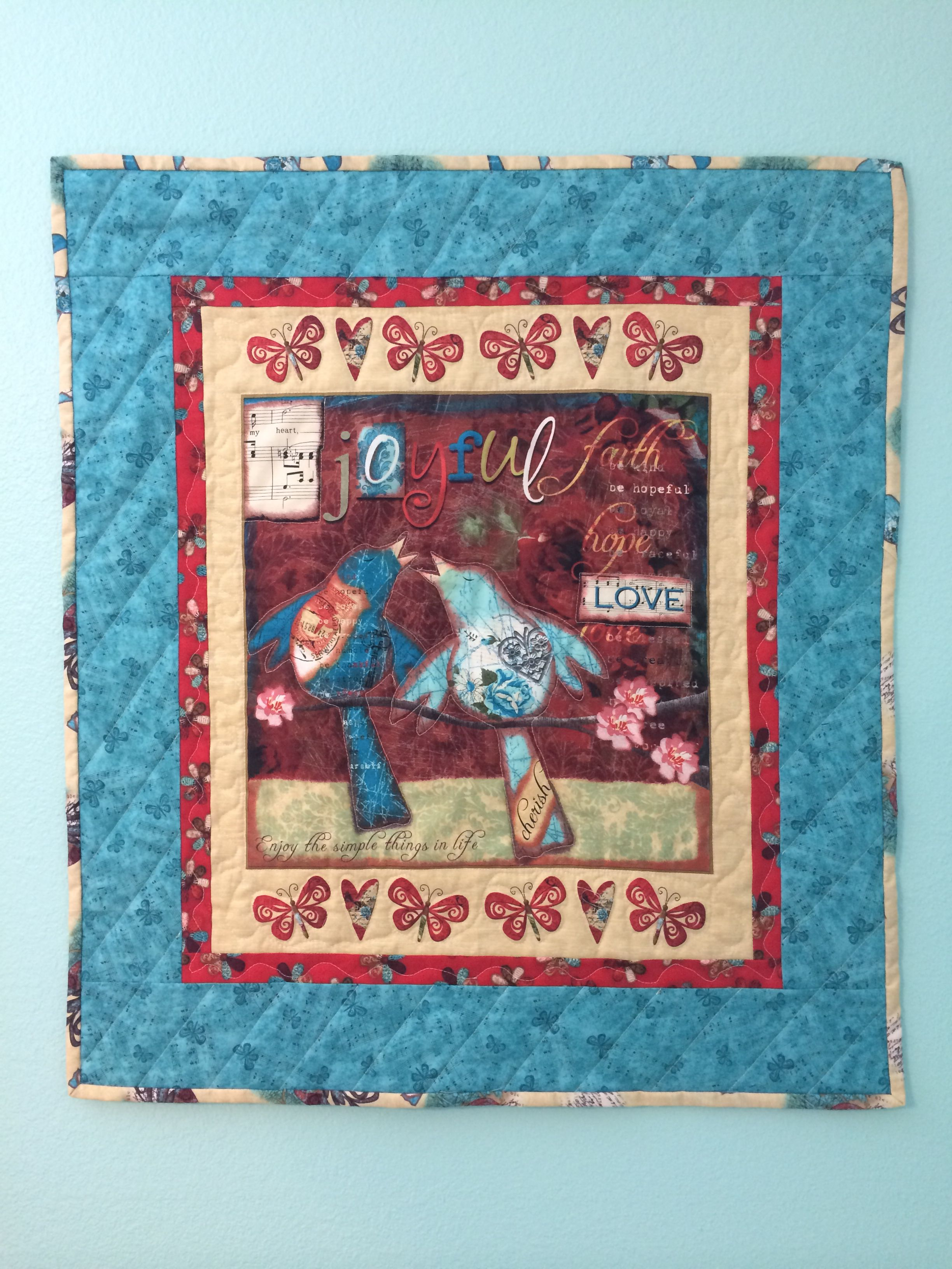 joyful noise quilted wall hanging i just completed for my craft
